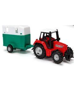 Majorette traktorsett rød - 18 cm