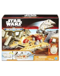 Star Wars The Force Awakens Micromachines Millenium Falcon Hero playsett