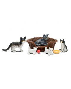 Lundby Småland kattefamilie