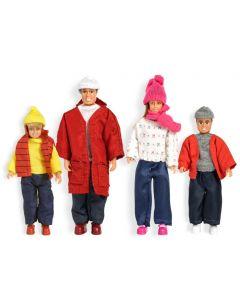 Lundby Småland dukkefamilie vinter