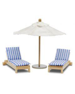 Lundby Stockholm solsenger og parasol