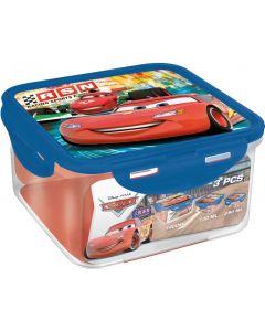 Disney Cars oppbevaringsboks kvadratisk – 3 stk