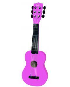 Klassisk rosa gitar - 54 cm