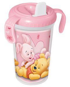 Disney Ole Brumm drikkeflaske rosa - 300 ml