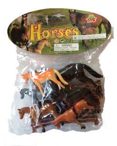 Hester 6 stk med gjerde
