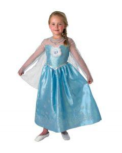 Disney Frozen Deluxe Elsa kjole og kappe 7-8 år
