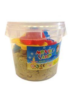 Moving Sand sett - 1kg bøtte beige sand