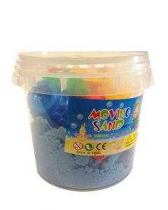 Moving Sand sett - 1kg bøtte blå sand