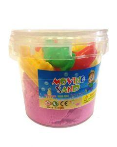 Moving Sand sett - 1kg bøtte rosa sand