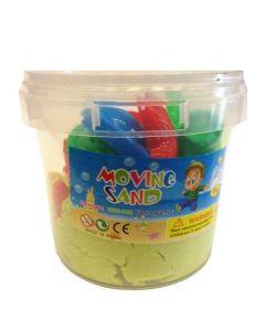 Moving Sand sett - 1kg bøtte lys gul sand