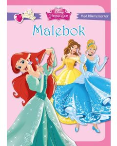 Disney Princess malebok med klistremerker