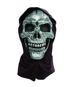 Maske metallic - hodeskalle med tøytrekk