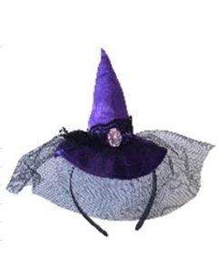 Mini hatt med edderkoppmotiv