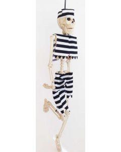 Skjelett med klær - fange 40 cm