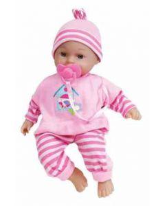 Lissi gråte- og latterdukke med rosa bukse - 28 cm
