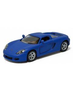 Porsche samlebil metall - 12cm - blå