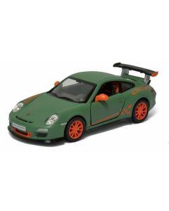 Porsche samlebil metall - 12cm - grønn