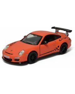 Porsche samlebil metall - 12cm - oransj