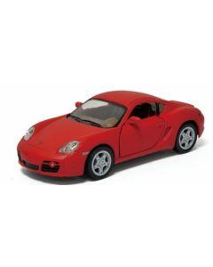 Porsche samlebil metall - 12cm - rød