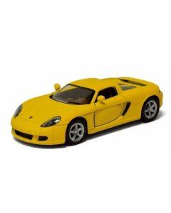 Porsche samlebil metall - 12cm - gul