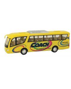 Buss die-cast metall - 18cm - gul