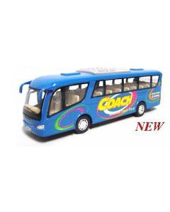Buss die-cast metall - 18cm - blå