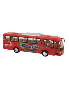 Buss die-cast metall - 18 cm - rød