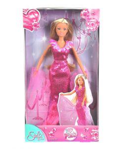 Steffi Love rosa - kjole med glitterkrage