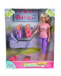 Steffi Love tvillingvogn Sunshine Twins - med lilla bukse