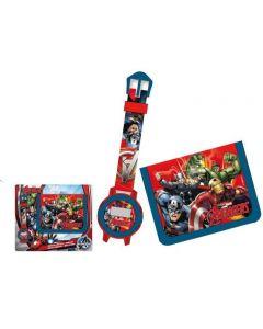 Avengers digitalt armbåndsur og lommebok