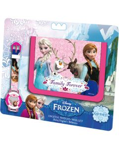 Disney Frozen digitalt armbåndsur og lommebok