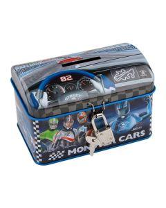 Monster Cars sparebøsse med lås