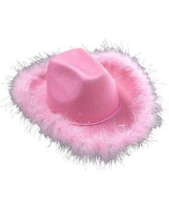 Cowboy hatt med pels