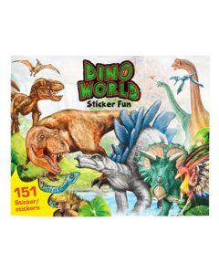 DinoWorld malebok - lag din egen Dino klistremerkeverden