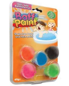 Baff Paint 5 stk - kropps og ansiktsfarger