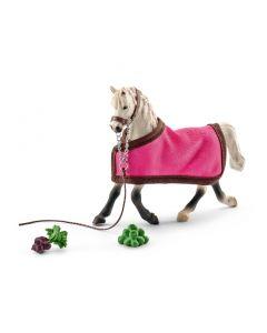 Schleich Arab mare - Hoppe with blanket