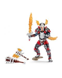 Schleich Dragon knight hero with weapons