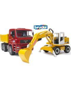 Bruder 02751 - lastebil og gravemaskin