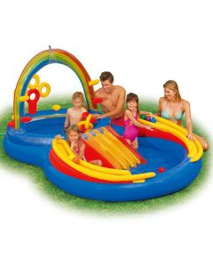 Intex vannpalass Rainbow Ring - 420 liter