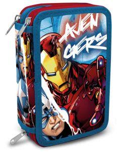 Avengers trippelt pennal - med innhold
