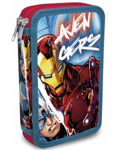 Avengers dobbelt pennal - med innhold