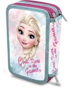 Disney Frozen trippelt pennal - med innhold