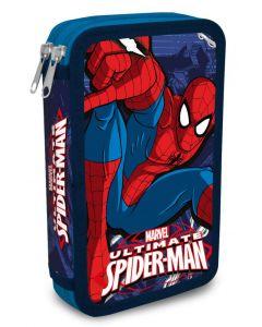 Spider-Man dobbelt pennal - med innhold