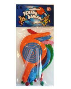 Ballonger flerfarget flyvende - 6stk.