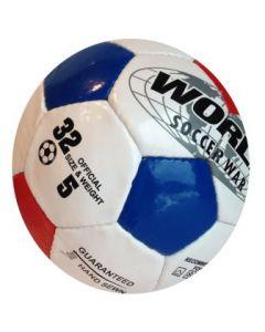 Fotball rød og blå ruter 20cm