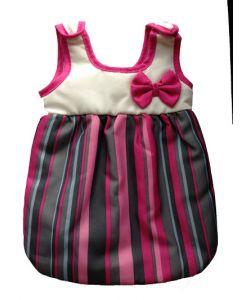 Lissi baby-sovepose rosa med striper