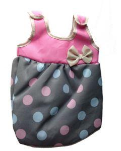 Lissi baby-sovepose rosa med prikker