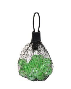 Klinkekuler i glass - grønn