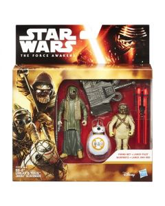 Star Wars The Force Awakens BB-8, Unkar's & Jakku Scavenger figursett - 9.5cm