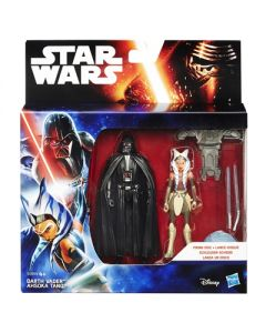 Star Wars The Force Awakens Darth Vader &Ahsoka Tano figursett - 9.5cm